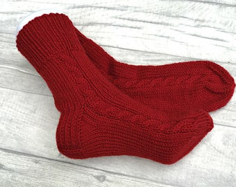 Wool Knitted Socks - Wool Socks Women - Wool Socks Men - Knitted Socks - Women Socks - Handmade Socks, Christmas Clothes, Hand Knitted Socks