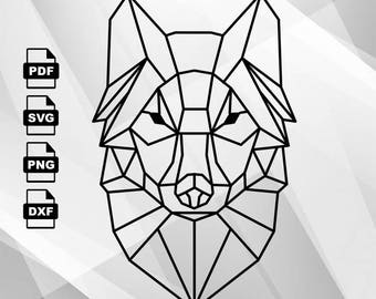 Abstract Wolf SVG Vector Clipart Svg Files, printing design, png, pdf, DXF, Insta Download