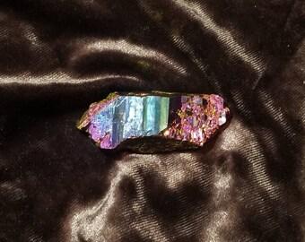 Titanium Aura Quartz Crystal