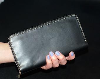 Long Zipper Wallet from horse leather Avancorpo