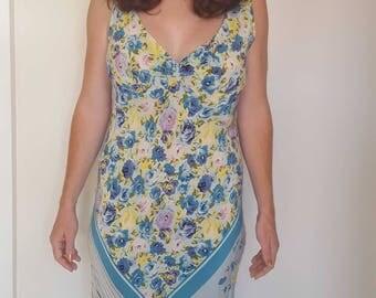 Silk Floral Summer Dress