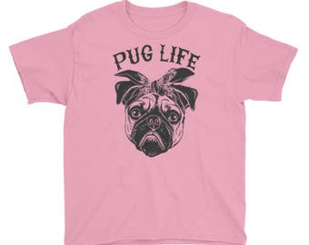 Pug Life Youth Short Sleeve T-Shirt