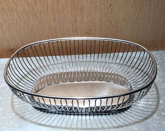 Alessi-Stainless Steel bread basket