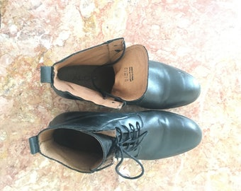 ALDO Pointed Black Leather Casual Boots