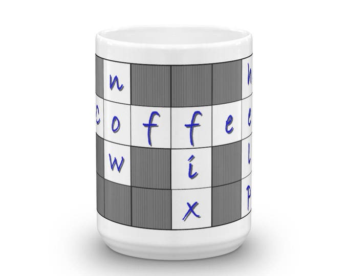 Crossword Coffee Cup, Help Fix Now Coffee Mug, Satire Coffee Mug, Sleepy Head, Morning Brain, Coffee Fix, Caffeine Please, Coffee