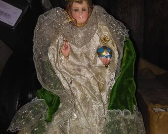 Infant of prague doll/statue made in italy