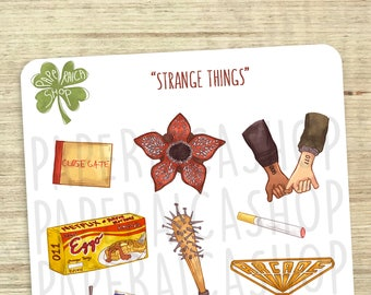 Stranger Things Stickers, Netflix Stickers, Eleven Stickers, Mike, Dustin, Lucas, Kawaii, Watercolor, Eggo Stickers, Decorative   E054