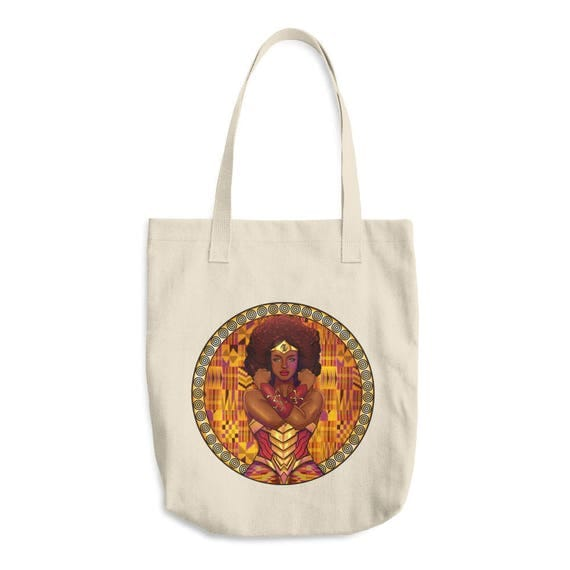 AMARA Warrior Princess Cotton Tote Bag