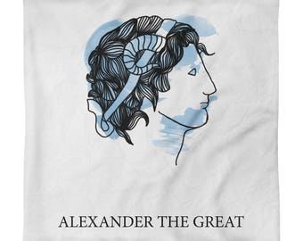 Alexander the Great Square Pillow Case only