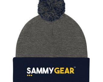 Pom Pom Knit Cap - Classic SammyGear(TM) decal