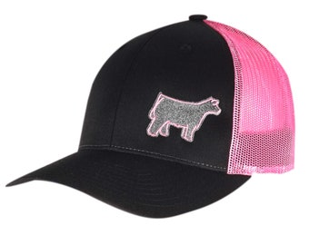 Womens fit mesh back hat with Steer