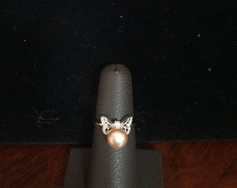 Butterfly Pearl Ring