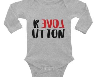 R LOVE UTION -Infant Long Sleeve Bodysuit