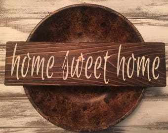 Home Sweet Home wood sign home decor family farmhouse fixer upper