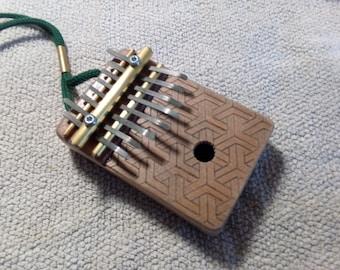 mini Kalimba / Thumb piano / Mbira - 8 keys - ancestral african instrument -  Armour design