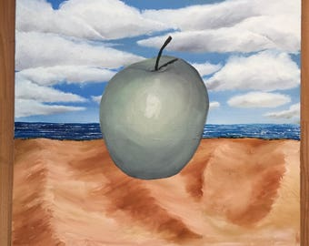 Apple in the desert - Original Oil Painting
