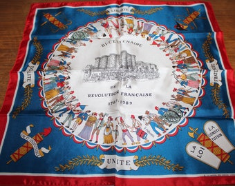 Bicentennial scarf from the French revolution 1789 1989 Lyon canuts House