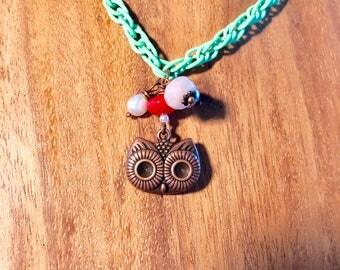 Owl eyes on you necklace