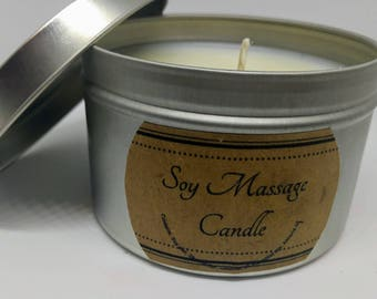 Soy massage Candles and Meltables