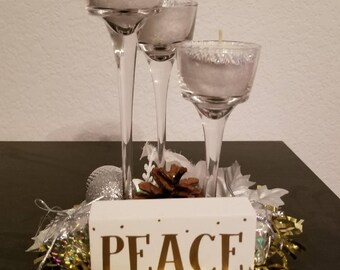 Peace Tealight Candleholder
