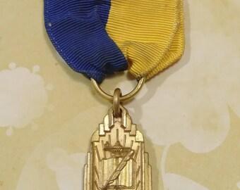 Vintage Scholarship Medal/ribbon/school award/vintage medal/vintage award/academic/college scholarship/collectibles