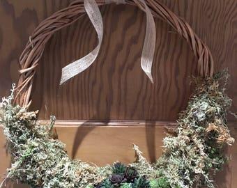 Handmade Succulent & Willow  Wreath