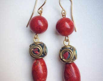 Ethnic style earrings.