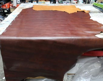 Espresso aniline cowhide leather 2.5-3oz. Perfect for handbags, shoes and leather crafts