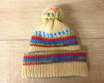 Baby's pure new wool hat; Baby's merino wool hat