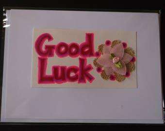 Handmade card: Good Luck