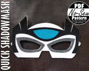 Quick Shadow Rescue Bot No-Sew Mask Pattern