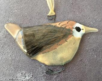 Fused Glass Hanging Birdies