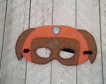 Water Paw Masks Puppy, Hero, Working Dog, Patrol, Inspired Mask, Pretend Play, Imagination