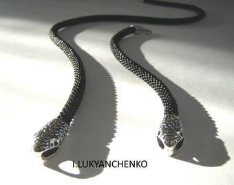"""Necklace and bracelet """"Snake"""""""