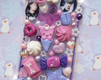 Kawaii sweet candy decoden handmade EXO phone case for IPhone  6 plus