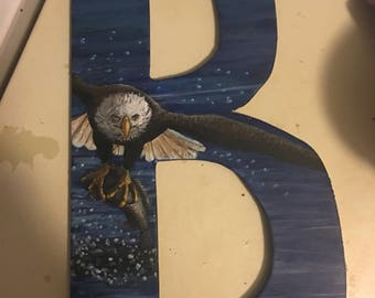 Hand Painted Letters Wall Decor