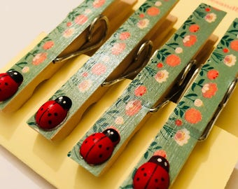 Magnetic ladybird pegs