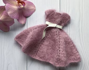 blythe doll Knitted dress, Knitted dress for Blythe doll, dress for Blythe, outfit for Blythe, Blythe clothes, Blythe doll, handwork