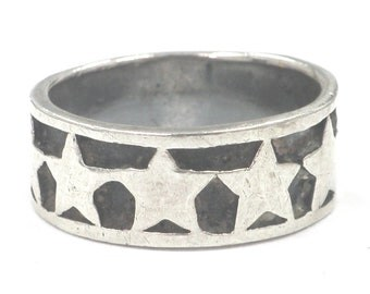 Vintage Sterling Silver Band, Can Be Sized Size 7, 4.9 Grams Hallmarked 925