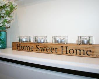 Rustic Tea light Home Sweet Home