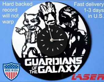 Guardians of the Galaxy 1, Vinyl record clock, Home design home wall clock, best gift, birthday, Christmas, sports, music, custom, animal