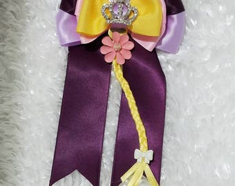 Rapunzel Inspired Hair Bow