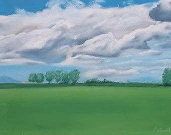 Summer Landscape on Sennelier paper