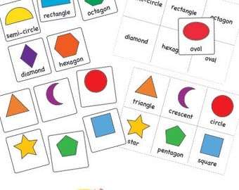 2D Shape Lotto Matching Game PDF EYFS KS1 Educational Printable Resource