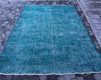 oversize turkish rug, anatolian hall rug, Free Shipping 6.3 x 9.7 ft. bohemian area rug, handknotted rug, oushak rug, wool rug MB328