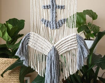 Macramé Anchors Away Wall Hanging
