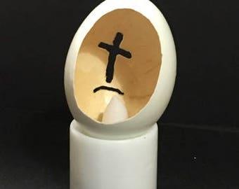 Oval Cross Eggshell
