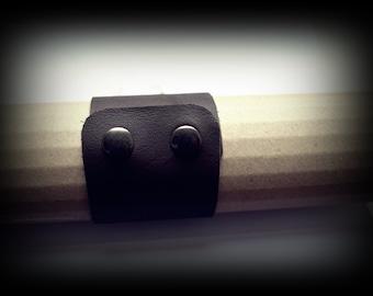 bracelet en cuir marron * brown leather bracelet