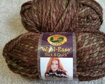 Lion Brand Wool Ease Thick & Quick yarn 5 oz skeins
