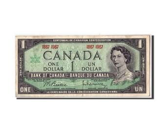 canada 1 dollar 1967 km84a vf(30-35)